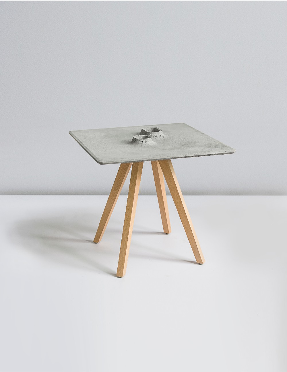 Sheng Table Square Table cement product design by BENTU coffee table