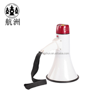 Police siren megaphone with microphone for patrol publicity, multifunction megaphone