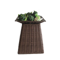 Alibaba store supermarket accessories pe rattan vegetable stand for sale