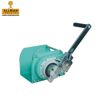 ALLMAN self locking brake system spur gear drive hand marine winches for boat loading and unloading