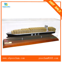 1:500 scale custom miniature model container ship