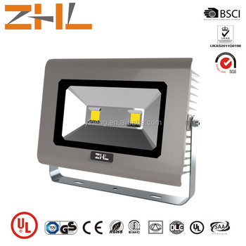 2016 ZHL UL approved 100W flood lights LED 100-240V Outdoor lighting TUV GS ERP ROHS