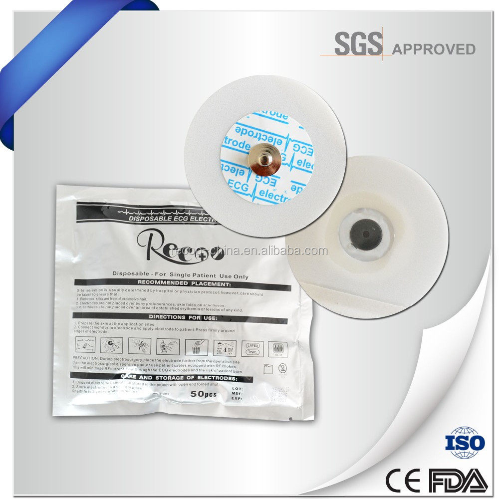 Medical supply disposable wireless ecg electrodes