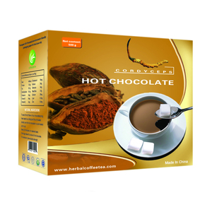 Lifeworth private label slimming instant cordyceps hot chocolate cocoa beans powder with sample free
