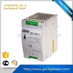 DR-101-200W-12V/24V/48V AC/DC Guide type Din Rail Switching Power Supply with international general ac voltage input type