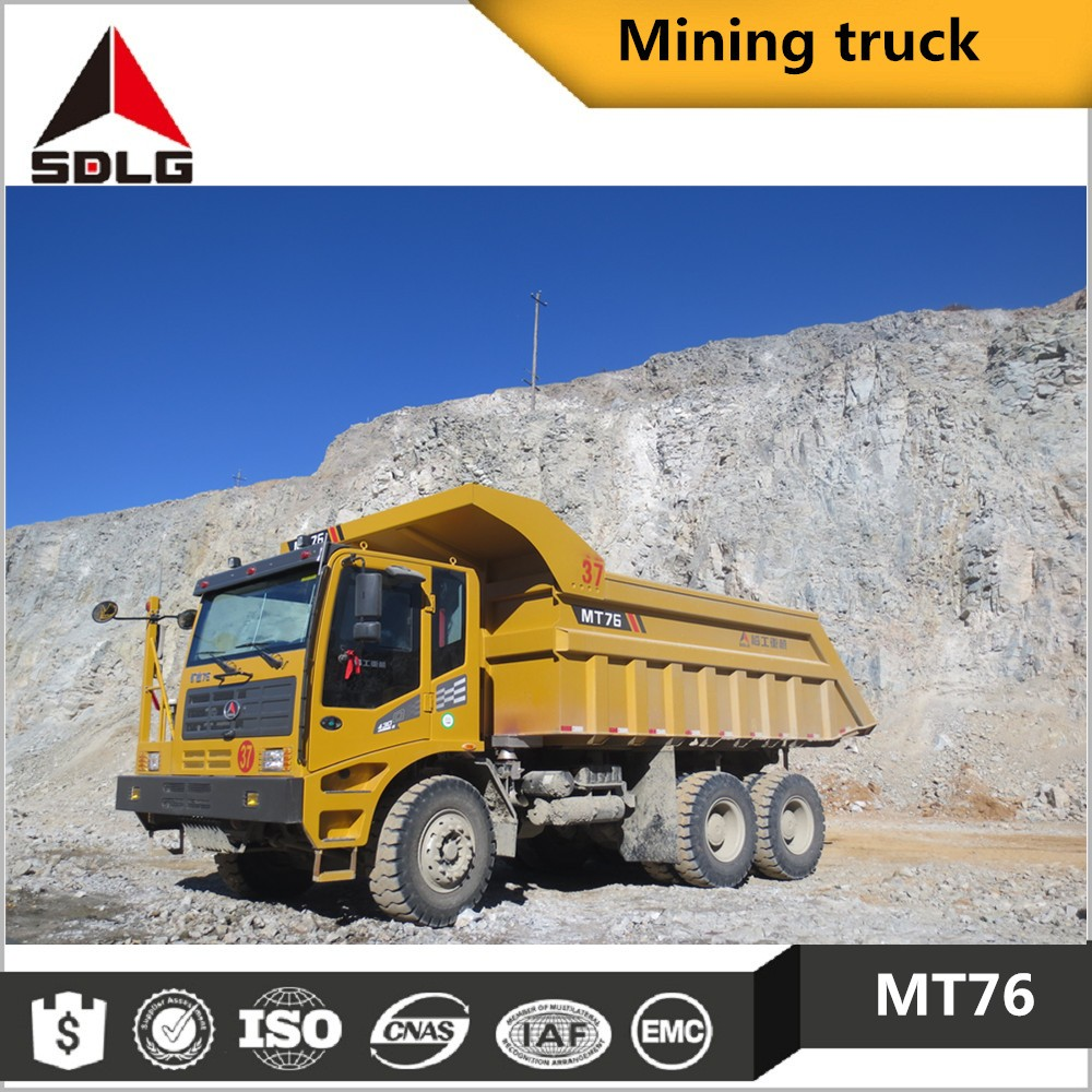 SDLG high-way dump mining truck MT76 for soil and rock haul in the medium sized mine and quarry