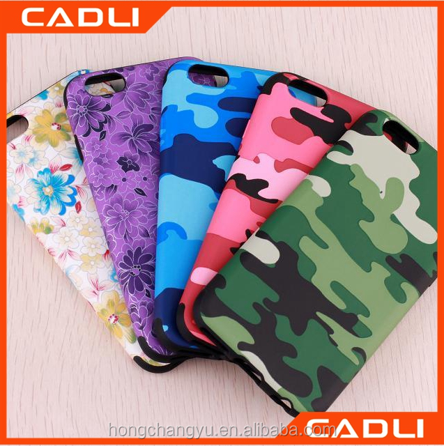 Printing Mobile Phone Housing camouflage TPU phone case for iphone 6