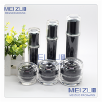 airless cosmetic eye or face cream acrylic bottle and jar for personal care
