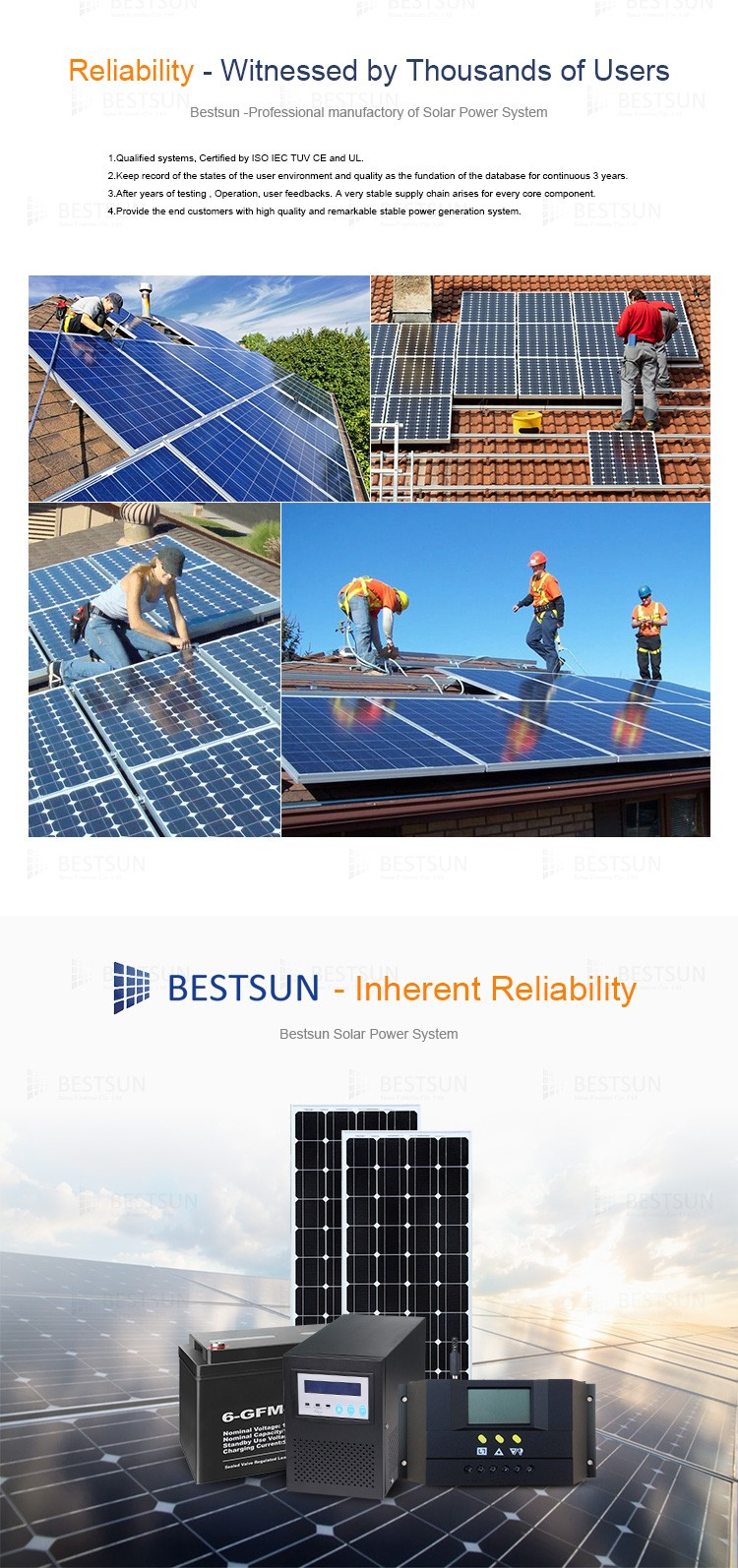 BESTSUN 800w 100w monocrystalline solar energy product/ generator panels manufacturers in china