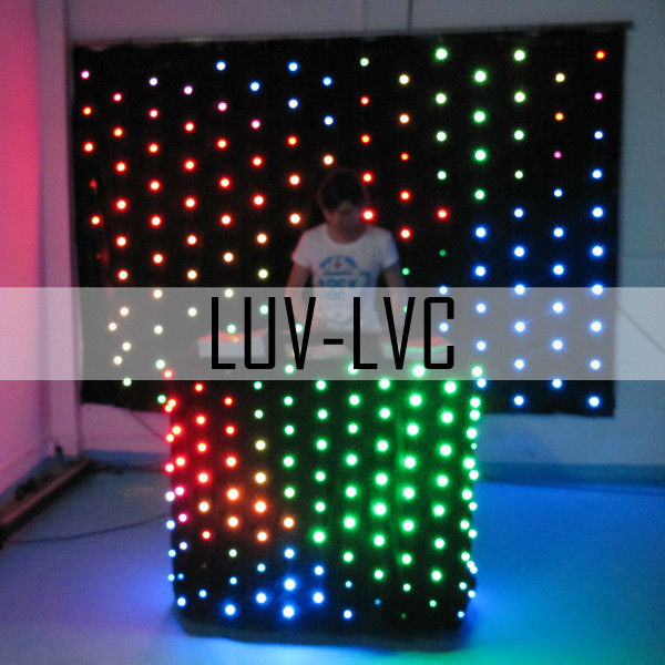 sound activated 1mx2m P9 DJ used led curtain display video screen