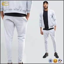 Ecoach Wholesale OEM Custom Logo Men Sports Gym Skinny Joggers Jogger Pants Grey Blank Cotton Poly Sweatpants with Side Pockets