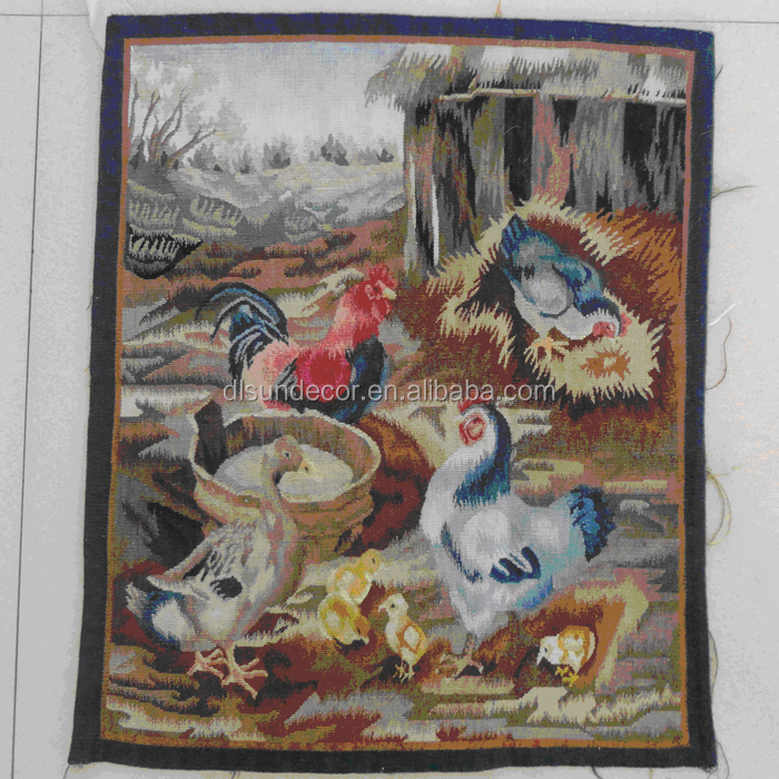 wool and silk hand knotted aubusson tapestry