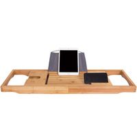 Wood Luxury household Tray, wine Glass holder Tray, electronic product Holder (Natural Bamboo Color)