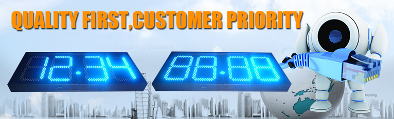 outdoor gas station Armor plate board led gas price sign