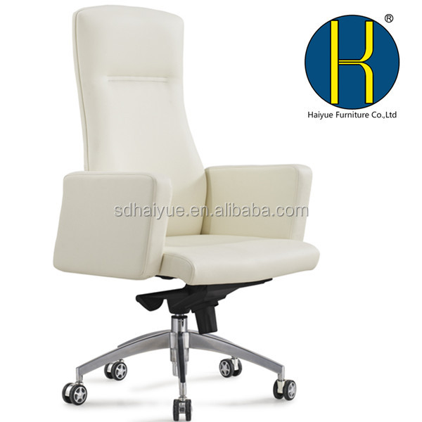 New modern comfortable Luxury boss office furniture black and white genuine leather president chair