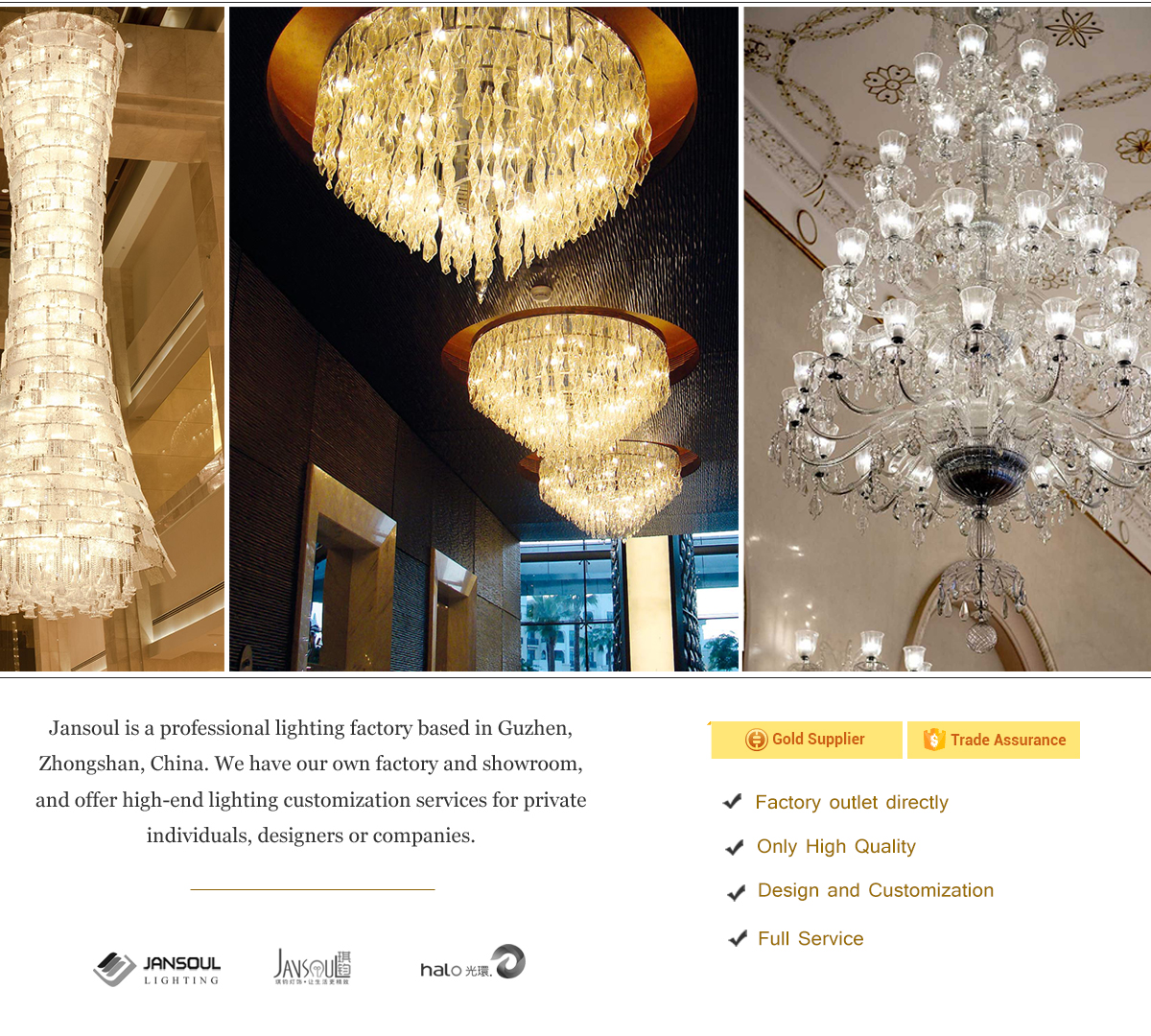Zhongshan Jansoul Lighting Co Ltd Projects Crystal Chandelier
