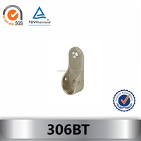 306BT wardrobe rail end support and holder