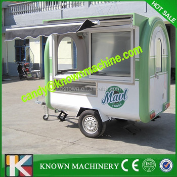 Fast food trailer with fry ice cream machine , food trailer 220H
