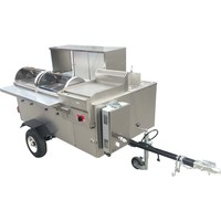 USA Stainless Steel Mobile Street Fast Food Trailer Cart With Wheels