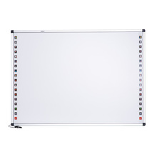 IR Ultrasonic Interactive Smart Board 80 Inch Moveable Whiteboard with Wheels Slim silver elegant Frame China Education Supplier