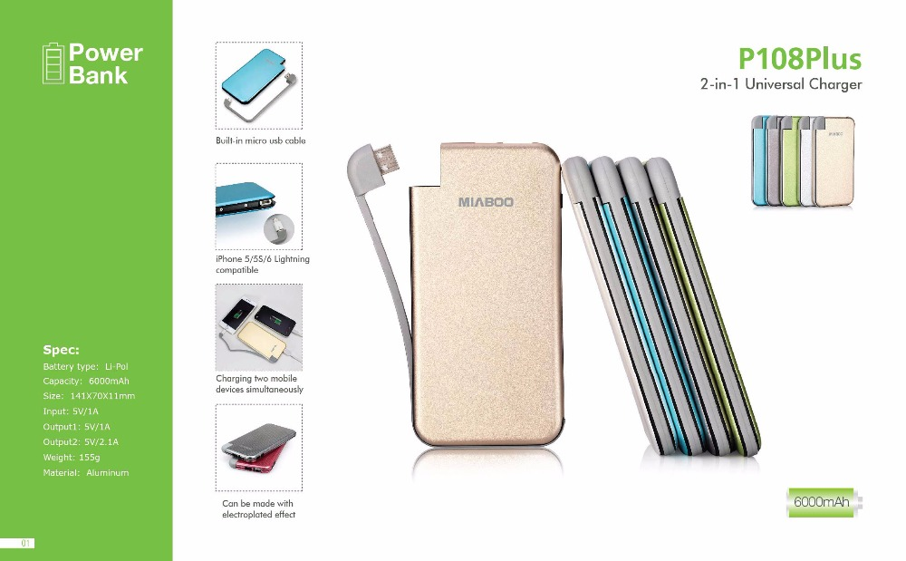 Factory Price Silver Portable Charging Bank For Promotion