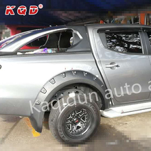 Auto accessories ABS plastic wheel arch fender flares 4x4 fender flares for Mitsubishi Triton 2016