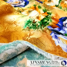 Digital printed 100%polyester imitated silk crepe chiffon fabric for dress