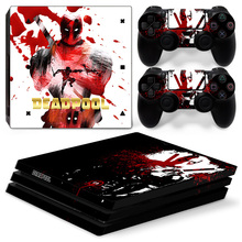 Custom design vinyl skin sticker for ps4 pro console high quality skin for ps4 pro--heros man