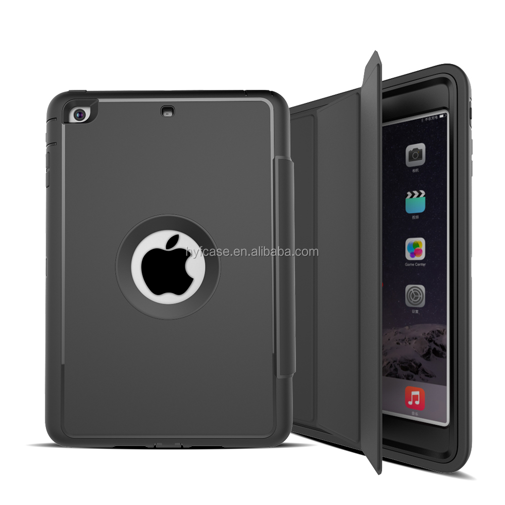 For iPad Mini Cover Case 2017 Colorful Hybrid Armor Plastic Rubber Cases for iPad Mini 1 2 3 with sleep fuction