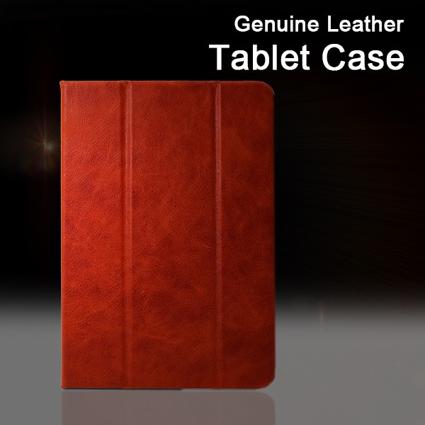 Vietnam Genuine Oil Wax Leather Man Grain with Stand Function Tablet Case 7.9 inch For Ipad Mini 4