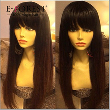 Hot Style Virgin Brazilian Human Hair Silk Base Full Lace Wig Glueless Jack Sparrow Wig With Bangs