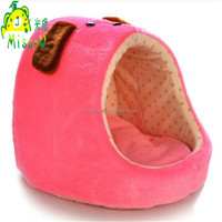 High Quality Cozy Pink Plush House Pet Toys For Cute Dogs