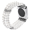 38MM 42MM White Pearl Beaded Replacement Wrist Watch Bands for Apple Watch