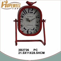 cheap vintage table clocks , metal decoration clock for sale