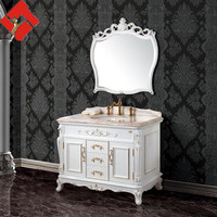 antique white bathroom vanity made in china