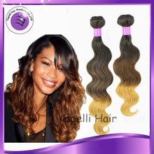 alibaba 2015 new arrivial Malaysian virgin human hair ombre body wave hair extension 10-30 inch best 7a top grade bodywave