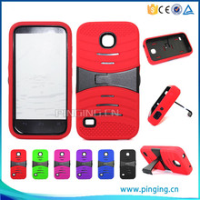 PC & Silicone hybrid combo robot kickstand case for ZTE Grand X Max Plus Z987 phone cover