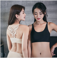 New design seamless bra embroidery lace beauty back ladies wrapped chest wholesale