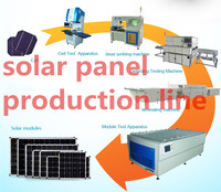 Easy Set Up Semi Auto / Manual Solar Panel Assembly Line