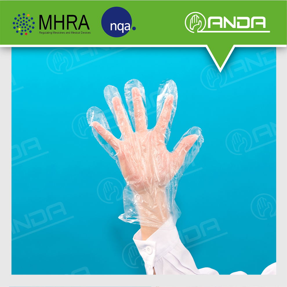 AD007 CE ISO approved breathable disposable food service glove