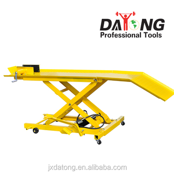 high quality pneumatic 800lbs motorcycle lift table