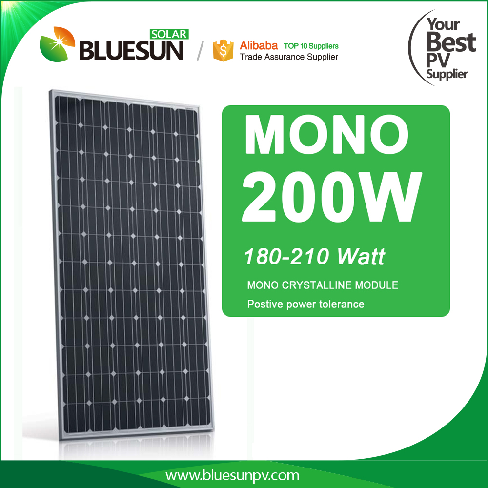 Bluesun best price 72pcs silicon cells mono solar panel 180w