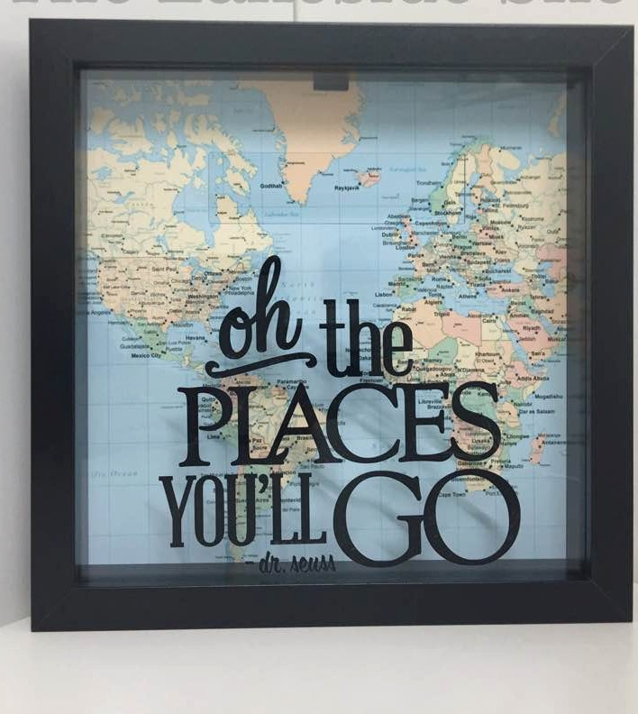 The Places You'll Go Memory Ticket Shadow Box