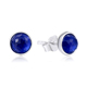 POLIVA Best Selling 925 Sterling Silver Noble Blue Stone Synthetic Sapphire Birthstone September Droplets Stud Earrings