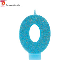 Blue glitter number cake birthday candles walmart