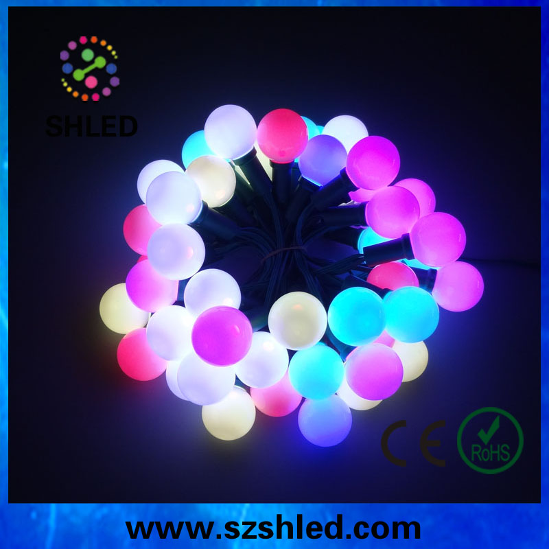 app control led wireless christmas lights g40 for holiday decoration