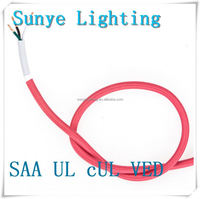 High quality colorful VDE SAA UL 3 or 2 core textile flex cable fiber wire internet