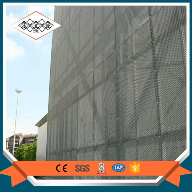 Building artistic aluminium perforated facade panel