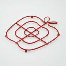 Home Basics Apple Shape Multi-Use Cherry-red Wire Trivet