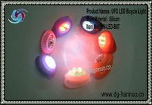 2012 The Latest--*UFO* Silicon LED Bicycle Light,LED Bicycle Lamp,silicon led flashing bicycle lights